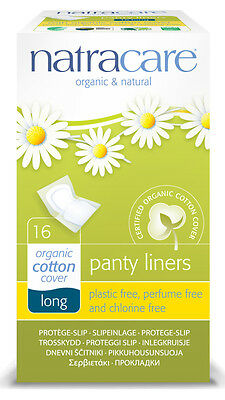 Brief liner Panty liners Long - natracare - 16-piece