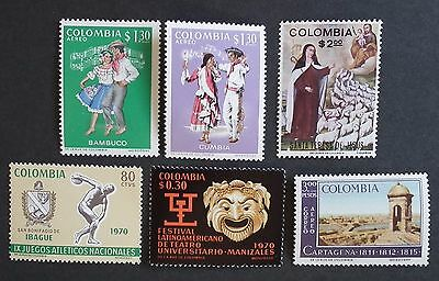 Colombia (1970 to 1971) National Games / Theatre / Atlantic Coast - Mint (MNH)