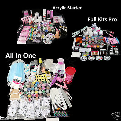 Complete Manicure Package Full Acrylic Nail Art Kits Set Pro Christmas Gifts