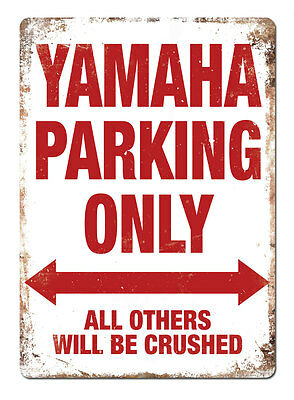 WTF | YAMAHA PARKING ONLY | Metal Wall Sign Plaque R1 46 Doctor R6 tenere MX