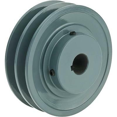 """Double V-Groove Pulley - 4"""" Pitch Dia., 3/4"""" Bore"""