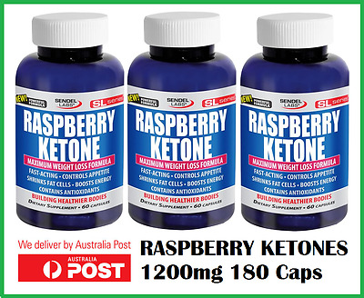 Raspberry Ketone 60 Veg caps x3 bottles - Maximum weight loss - AUS STOCK - SALE