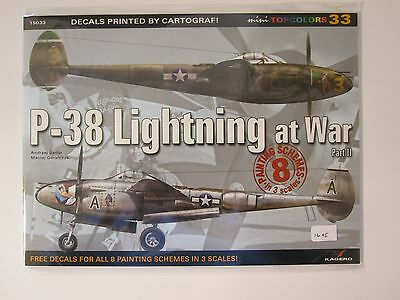 Kagero Book: P-38 Lightning at War, Part 2 - 16 pg, illustrated throughout DECAL
