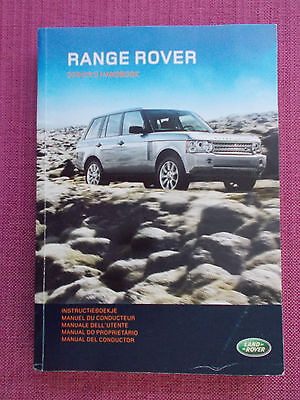 Range Rover (2005 - 2009)  Owners Manual - Owners Guide - Handbook.  (Lr 51)
