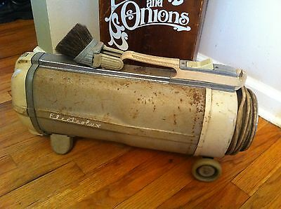Vintage Electrolux Model Automatic  Canister Vacuum Cleaner With Attachments Old