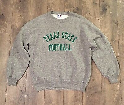 Necessary Roughness Movie Prop Vintage Texas State Russell Tri Sweatshirt Size L