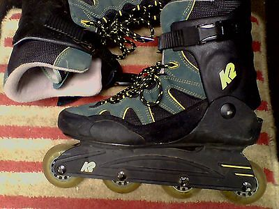 K2 Ascent M Inline Skates Rollerblades size 10 us 43.5 eur for parts