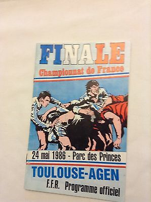 french rugby final 1986 Toulouse v Agen