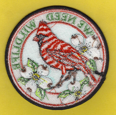 "Pa Pennsylvania Game Commission 4"" Stripped Back We Need Wildlife Cardinal Patch"