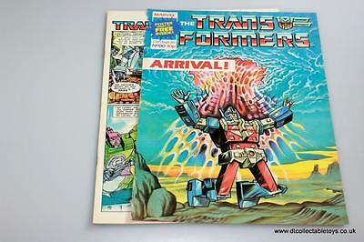 Transformers G1 UK Marvel Comic with POSTER Issue #80 27th Sept. '86 RARE