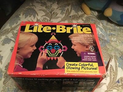 Vintage 1994 Lite Brite from Milton Bradley in original box with Pegs and Sheets