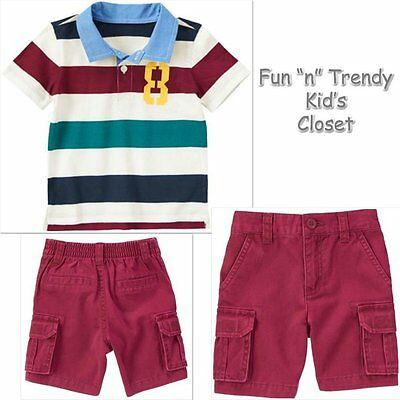 New NWT Crazy 8 Boys Size 4T 5T Salty Dogs Shorts /& Tee Shirt 2-PC OUTFIT SET