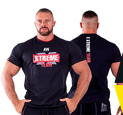 FA Nutrition T-Shirt XTREME TEAM - Black - TRAININGS SHIRT