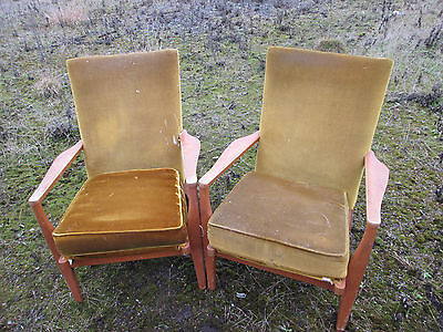 2 No. vintage Parker Knoll easy chairs