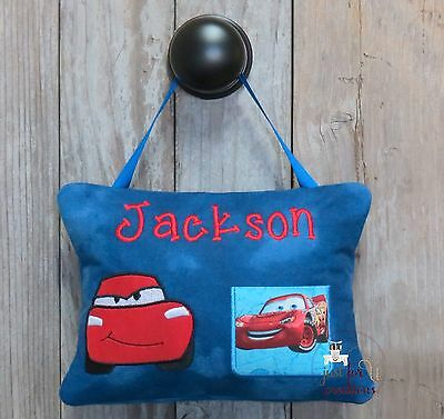 Boy's Personalized Tooth Fairy Pillow Car Inspired