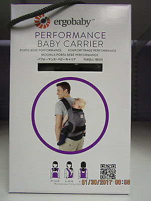 BRAND NEW in BOX ~ Ergobaby Performance Carrier - Charcoal Black