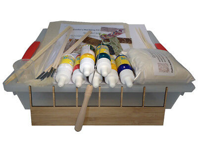 Dodin's Marbling Starter Kit Set for Paper and Fabric Ebru Supplies Tools Guide