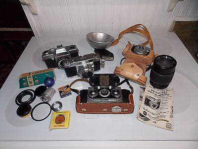 Estate Sale Camera Lot. Rare Stereo Realist By David White As Found