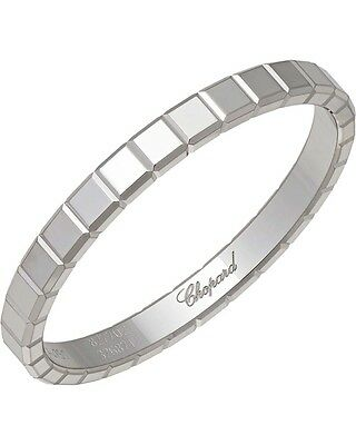 Chopard 18K White Gold Icecube Ring 827702-1019 MSRP $790
