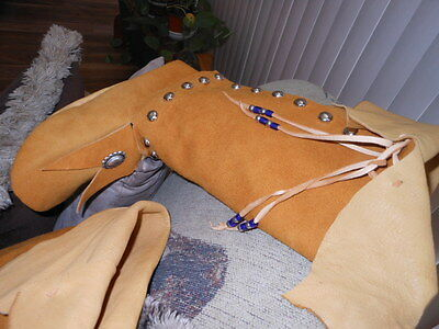native american indian deer hide womens moccasins size 8 1/2