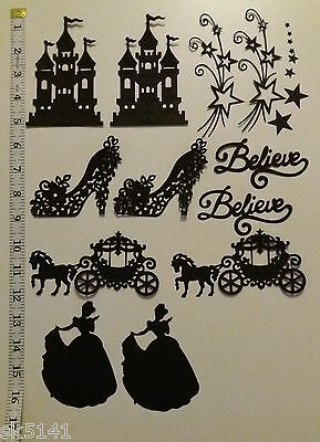 DIE CUT FAIRYTALE PRINCESS SILHOUETTE x 20 IDEAL FOR FAIRY JARS, CARDS & CRAFTS