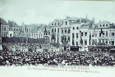 CPA-A340-600e ANNIVERSAIRE BATAILLE EPERONS D'OR-CANTATE-COURTRAI-BELGIQUE-1906