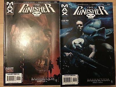 The Punisher Max 31 & 32 1st Barracuda - Garth Ennis marvel Comics