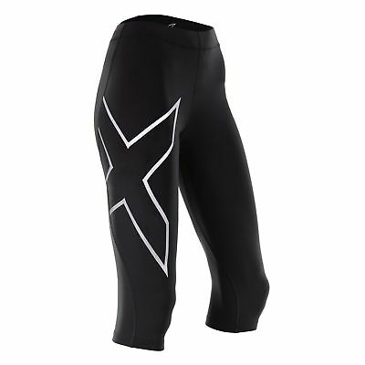 New 2XU Women Compression 3/4 Tights Gym Running Train Race WA4175b ALL SIZES