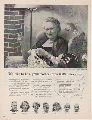 1956 Grandmother Holtermann Staten Island NY Bell Telephone Long Distance Ad