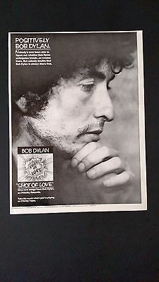 Positively Bob Dylan  (1981)  Shot Of Love ,rare Original Print Promo Poster Ad