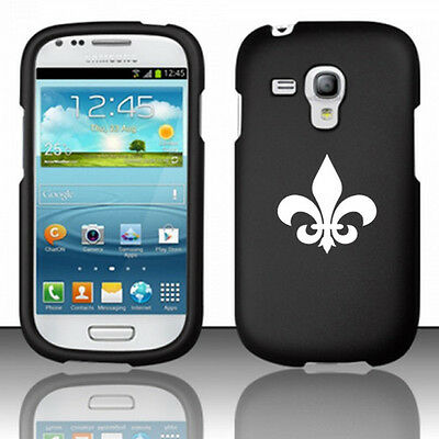 For Samsung Galaxy S III S3 MINI Rubber Hard Case Cover Fleur De Lis