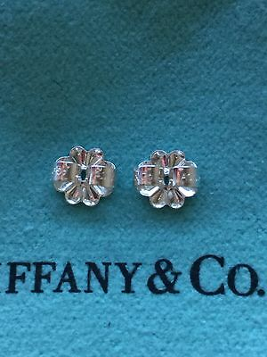 Authentic Tiffany & Co Earrings Butterfly Back Post (Set Of 2)