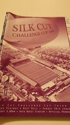 Widnes Vikings v West Hull programme 30.1.2000 Challenge Cup
