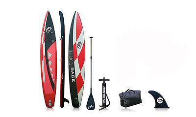 "Race Inflatable Stand up Paddle Board 14'6"", Carbon Paddle"