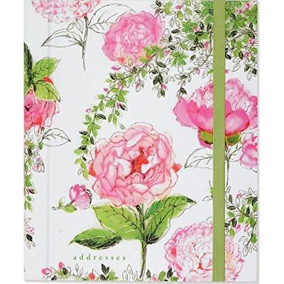 FREE 2 DAY SHIPPING: Rose Garden Large Address Book (Hardcover-spiral)