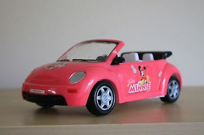 VOLKSWAGEN BEETLE CONVERTIBLE Simba MINNIE MOUSE Toy Car Minnie's World