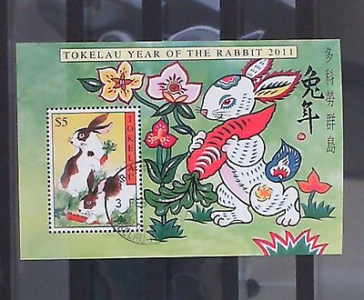 Tokelau 2011 Year of the Rabbit M/S CTO SGMS419