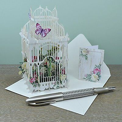 The Flower Cage - 3D Pop-Up Birthday Card Paper D'Art