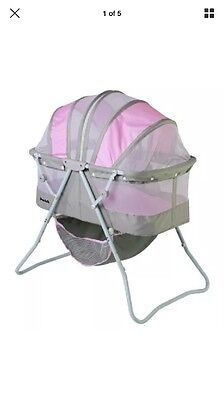 Dream On Me Karley Bassinet, Grey and Pink , New, Free Shipping=