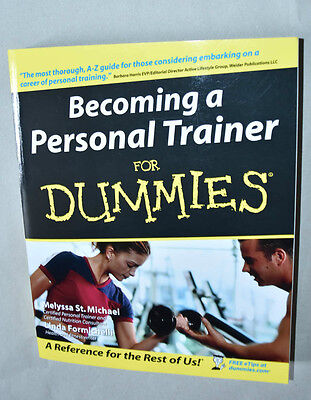 New Becoming A Personal Trainer For Dummies Paperback Book Health And Fitness