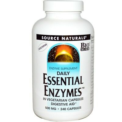 Source Naturals, Vegetarian Daily Essential Enzymes, 500 mg, 240 Capsules