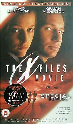 The X Files Movie LIMITED FIRST EDITION Serial No. 00038 (VHS, PAL)