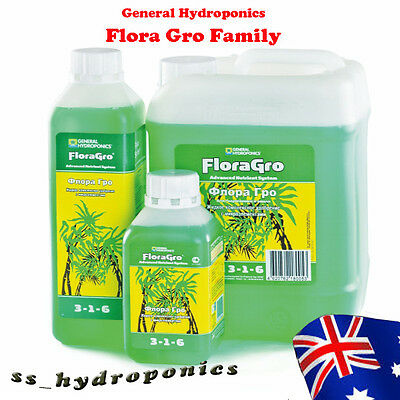 General Hydroponics Flora Gro 946ml Hydroponic Grow Nutrients Indoor or Outdoor