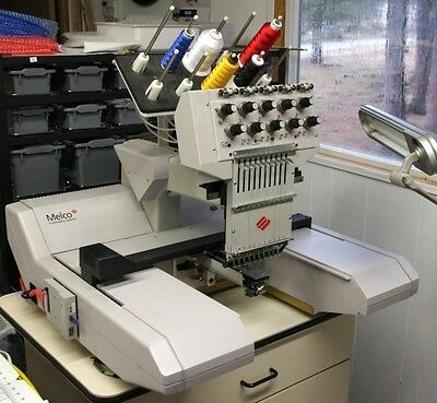 Melco EMC-10T Commercial Embroidery Machine -Serviced with Spares - Complete Set