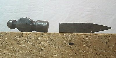 A Pair of Small 10 oz. Hammer Heads Shop Tools Ballpeen V-Point