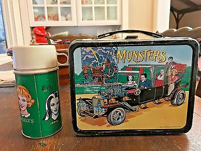 Vintage Rare Old 1965 The Munster's Metal Lunchbox & Thermos! WOW!