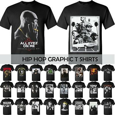 RAPPER T SHIRTS HIP HOP Tee GRAPHIC Tupac Bruce Lee Weed Snoop Dogg smoke dope