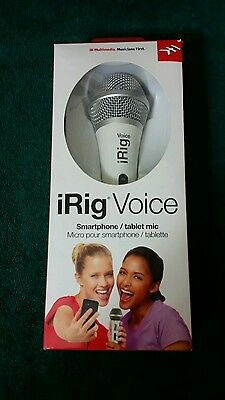 IK Multimedia iRig Voice white karaoke microphone for smartphones and tablets