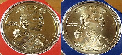 2013 P D Native American Sacagawea Dollar Set 1-D 1-P BU Mint Set Coin's
