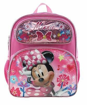 "Disney Minnie Mouse 16"" Shine Pink School Rolling Backpack"